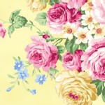 Quilt Gate - RuRu Bouquet - Tea Party - Main Floral in Yellow