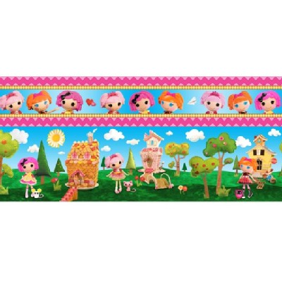 Quilting Treasures - Lalaloopsy - Stripe in Multi