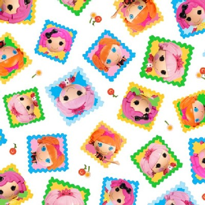 Quilting Treasures - Lalaloopsy - Toss Doll Blocks in White