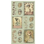 Quilting Treasures - Mirabelle - Picture Panel in Sage