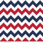 Riley Blake Designs - Chevron - Medium in Patriotic