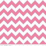 Riley Blake Designs - Chevron - Medium in Hot Pink