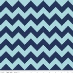 Riley Blake Designs - Chevron - Medium Tonal in Navy Blue