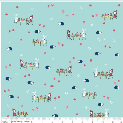Riley Blake Designs - Enchant - Tea Party in Aqua