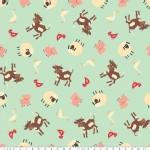 Riley Blake Designs - Farm Fresh - Farm in Teal