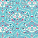 Riley Blake Designs - Flutterberry - Plume in Blue
