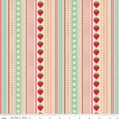 Riley Blake Designs - Fly A Kite - Strawberry in Pink