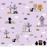 Riley Blake Designs - Halloween - Too Cute to Spook - Main in Purple