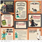 Riley Blake Designs - Halloween - Treat Cards Main in Orange