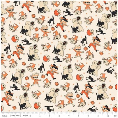 Riley Blake Designs - Halloween - Treat Toss Main in Cream