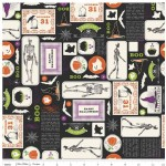 Riley Blake Designs - Halloween - Eek Boo - Main in Black