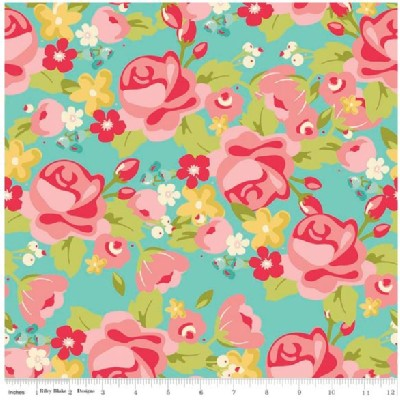 Riley Blake Designs - Hello Gorgeous - Main Floral in Mint