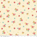 Riley Blake Designs - Hello Gorgeous - Flower Toss in Cream