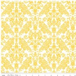 Riley Blake Designs - Hollywood - Damask in Yellow on White