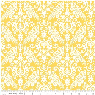 Riley Blake Designs - Hollywood - Damask in Yellow
