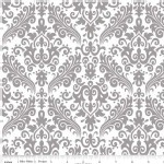 Riley Blake Designs - Hollywood - Sparkle Damask in Gray
