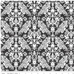 Riley Blake Designs - Hollywood - Sparkle Damask in Black