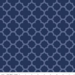 Riley Blake Designs - Hollywood - Sparkle Quartrefoil in Navy