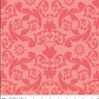 Riley Blake Designs - Kensington - Damask in Red