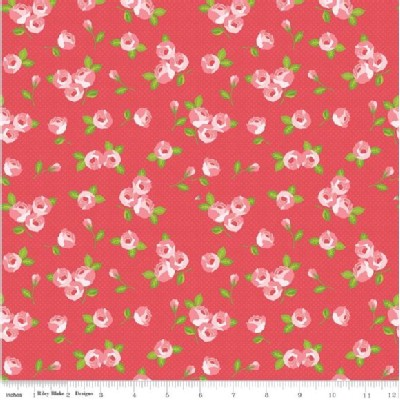 Riley Blake Designs - Kewpie - Floral in Red
