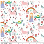 Riley Blake Designs - Kids - Princess Dreams - Princess Main in White