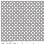 Riley Blake Designs - Knit Basics - Dots in Gray