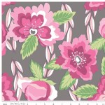 Riley Blake Designs - Knit Prints - Blossoms in Gray