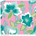Riley Blake Designs - Knit Prints - Blossoms in Pink