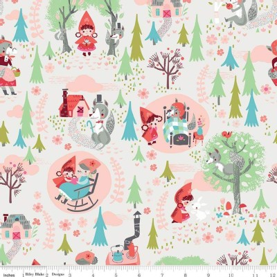 Riley Blake Designs - Little Red In the Woods - Main in Cream