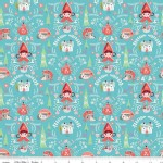 Riley Blake Designs - Little Red In the Woods - Damask in Teal