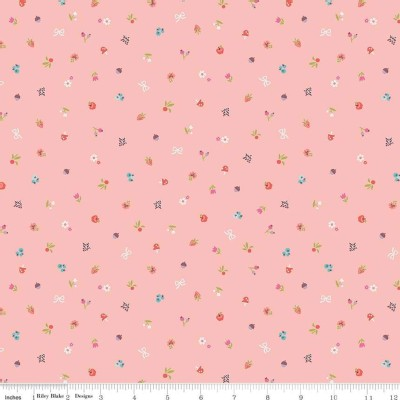 Riley Blake Designs - Little Red In the Woods - Bits in Pink