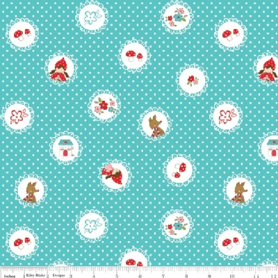 Riley Blake Designs - Little Red Riding Hood - Scallops in Aqua