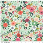 Riley Blake Designs - On Trend - Main Floral in Mint