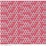 Riley Blake Designs - On Trend - Triangle in Raspberry Metallic