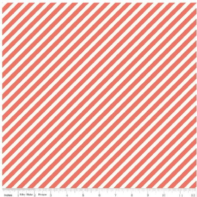 Riley Blake Designs - On Trend - Stripe in Coral