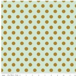 Riley Blake Designs - On Trend - Dot in Mint Metallic