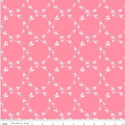 Riley Blake Designs - Others - Butterfly Dance - Circles in Pink
