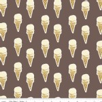 Riley Blake Designs - Paris and Company - Ice Cream in Brown