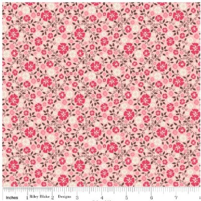 Riley Blake Designs - Round Up - Floral in Pink
