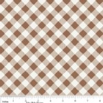 Riley Blake Designs - Sew Cherry - Gingham in Brown