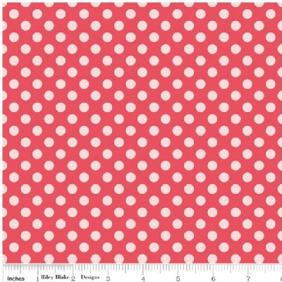 Riley Blake Designs - Simply Sweet - Dots in Red