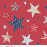 Riley Blake Designs - Stars and Stripes - Main in Red