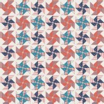 Riley Blake Designs - Stars and Stripes - Pinwheels in Cream