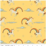 Riley Blake Designs - Unicorns and Rainbows - Unicorn Main in Yellow