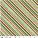 Riley Blake Designs - Unicorns and Rainbows - Unicorn Stripe in Multi