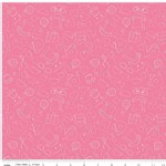 Riley Blake Designs - Wonderland - Tea Party in Pink