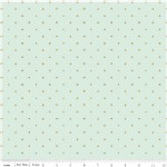 Riley Blake Designs - Wonderland - Cards in Mint Metallic