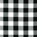 Robert Kaufman Fabrics - Basics - Carolina Gingham 1 inch in Black