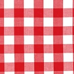 Robert Kaufman Fabrics - Basics - Carolina Gingham 1 inch in Red