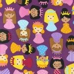 Robert Kaufman Fabrics - Girl Friends - Princesses in Jewel